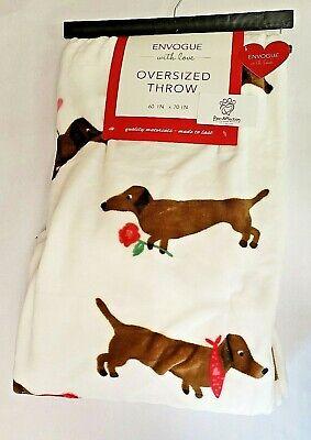 H3E# Creative cartoon dachshund thick cotton pillowcases 30 x 50 cartoon pillow