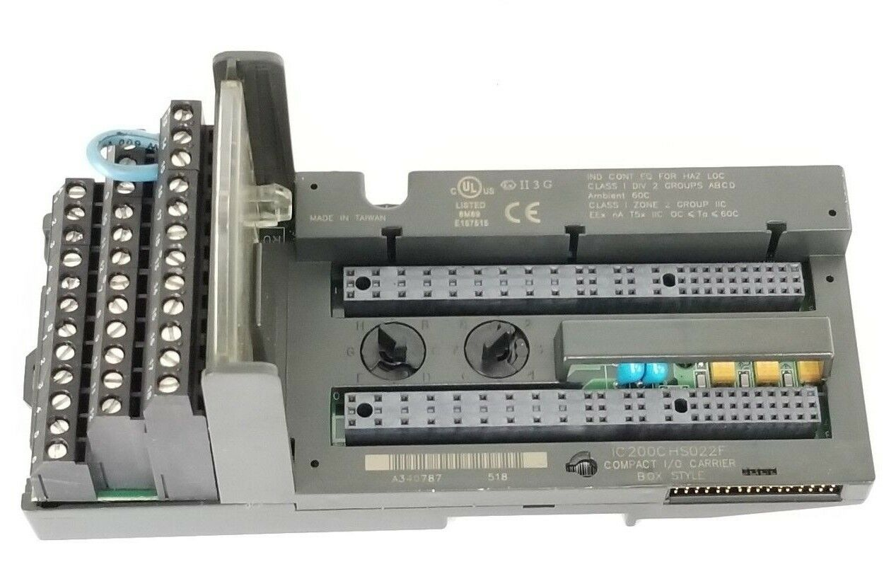 GE FANUC IC200CHS022F I O CARRIER ASSEMBLY COMPACT CARRIER BOX STYLE