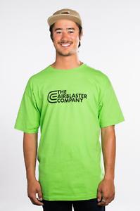 2013 NWT MENS AIRBLASTER TAC LOGO CLASSIC T-SHIRT $32 M lime green premium tee