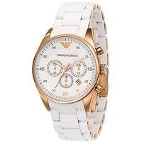 Emporio Armani Sportivo White / Rose Gold Quartz Analog Women's Watch AR5920