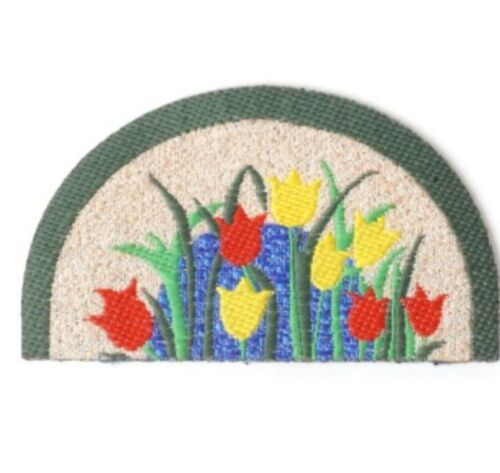 Miniature dolls house accessories Tulips Front Door Mats 1:12th scale Miniature