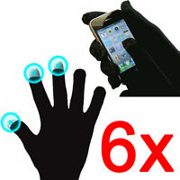 6 X Magic Touch Screen Gloves Unisex Mens Iphone Phone Ladies Samsung Htc Winter