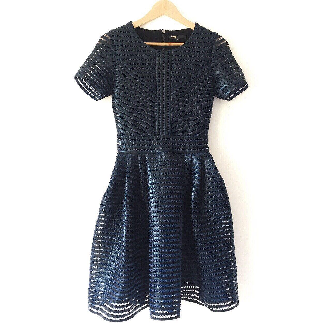 4414f2457170 100% Genuine Brand New bluee Roybridge Size 1 Maje Dress nqhbpe11479 ...