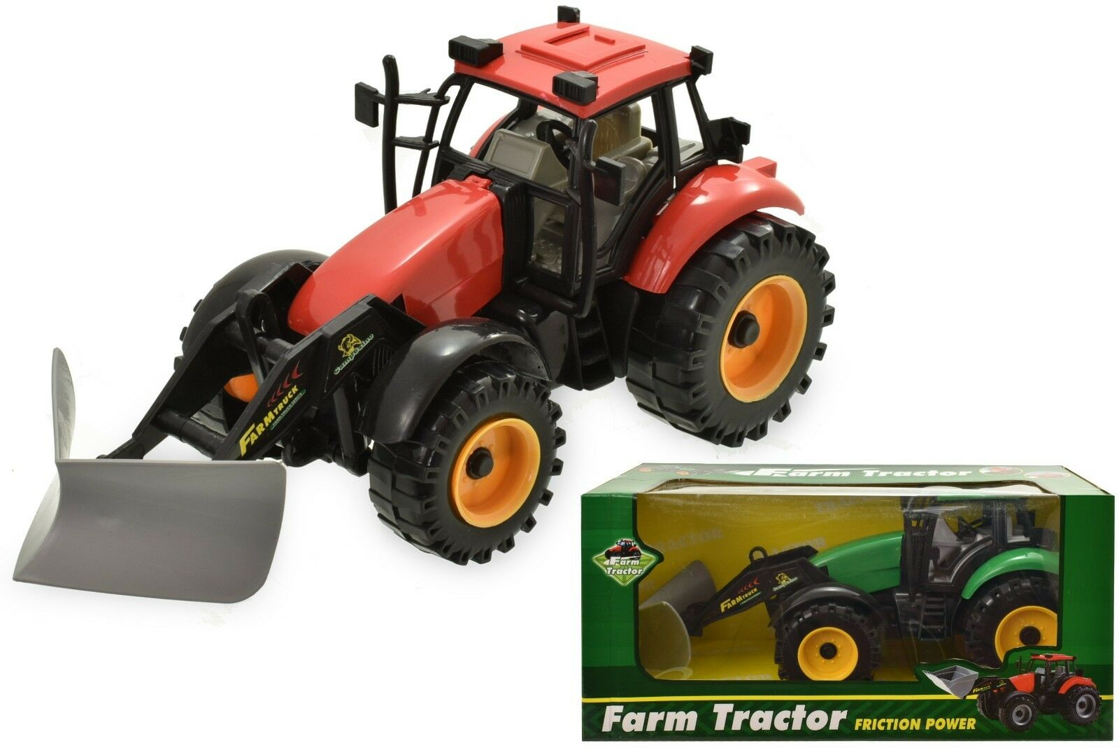 New 25cm Friction Powered Farm Tractors Farming Toy Perfect Gift For Kids