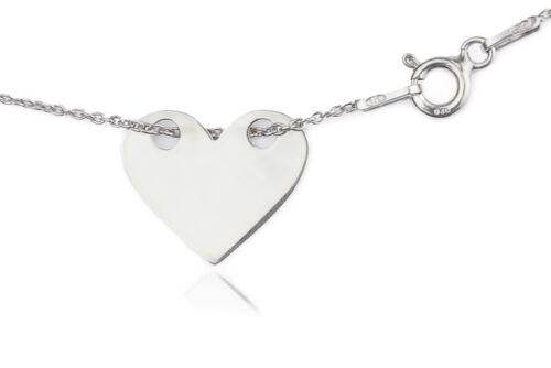 Ah joyas ® en Capas Estilo Collar de corazón sobre plata esterlina Estampada 925