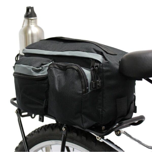 c345d0d5132 Rear Bicycle Rack Bag W 3 Side Pockets Bike Travel Safety Lightweight  Organizer for sale online