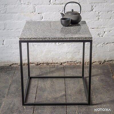Couchtisch KORN Wohnzimmertisch Beistelltisch Metall Granit Industrial Modern