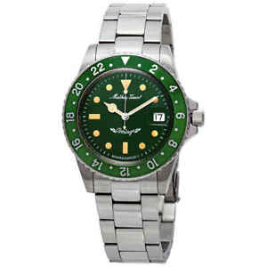 Mathey-Tissot-Mathey-Vintage-Automatic-Green-Dial-Men-039-s-Watch-H900ATV