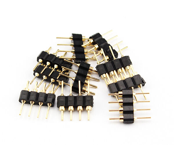 10PCS 4Pin Male Plug Adapter Connector For RGB 3528 5050 LED Strip Light  oO