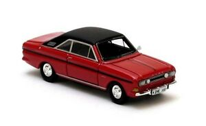 Ford-Taunus-P6-15M-RS-Coupe-034-Red-Black-034-1968-Neo-Scale-1-87-87330