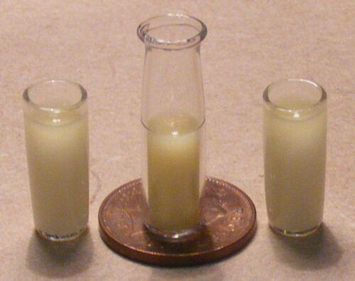 1:12 Scale 2 Glasses Of Milk Drink Kitchen Shop Tumdee Dolls House Miniature