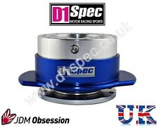 D1 SPEC UNIVERSAL RACING PADDLE STEERING WHEEL QUICK-RELEASE SILVER/BLUE DRIFT
