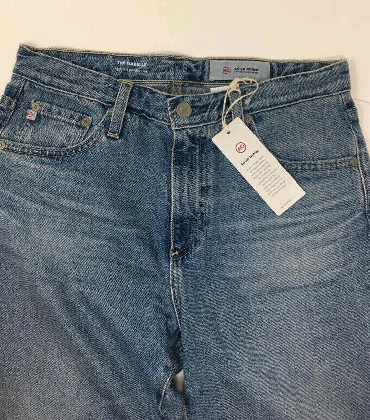 AG Isabella Ripped High-Rise Straight Jeans - 24 Years Hysteric Hysteric Hysteric - W27 - bef0f3