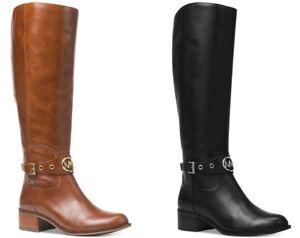 b55f8587e70 New NIB Michael Kors MK Women's Knee High Leather Tall Heather ...