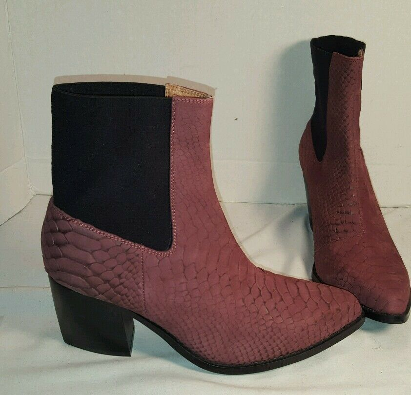 NEW FREE PEOPLE X JEFFREY CAMPBELL NEW FRONTIER WINE LEATHER BOOTS US 9