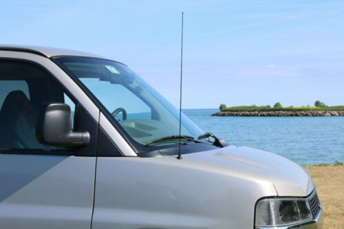 """1993-1998 Jeep Grand Cherokee Fits 31/"""" Black Spring Stainless Antenna Mast"""