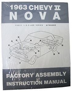 image is loading 1963-chevy-nova-chevy-ii-factory-assembly-manual-