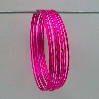 10x Kinder Armreifen Armband Bollywood Schmuck Bangles Sari Ø6,55cm Knitterfestigkeit