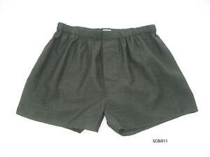 Silk-Mix-Boxer-Shorts-Men-Underwear-Underpants-Soft-Briefs-Trunk-Charcoal-M-L-XL