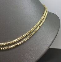 Palm Chain 32 Long 3mm In 10k Yellow Gold A10b4 Franco, Rope, Cuben