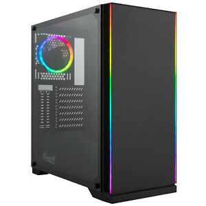 Rosewill-ATX-Mid-Tower-Gaming-PC-Computer-Case-with-RGB-Fan-amp-LED-Light-Strips