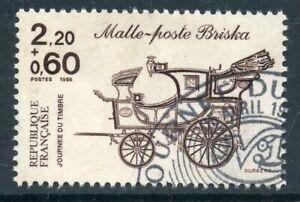 TIMBRE FRANCE OBLITERE N° 2410 JOURNEE DU TIMBRE / MALLE POSTE BRISKA