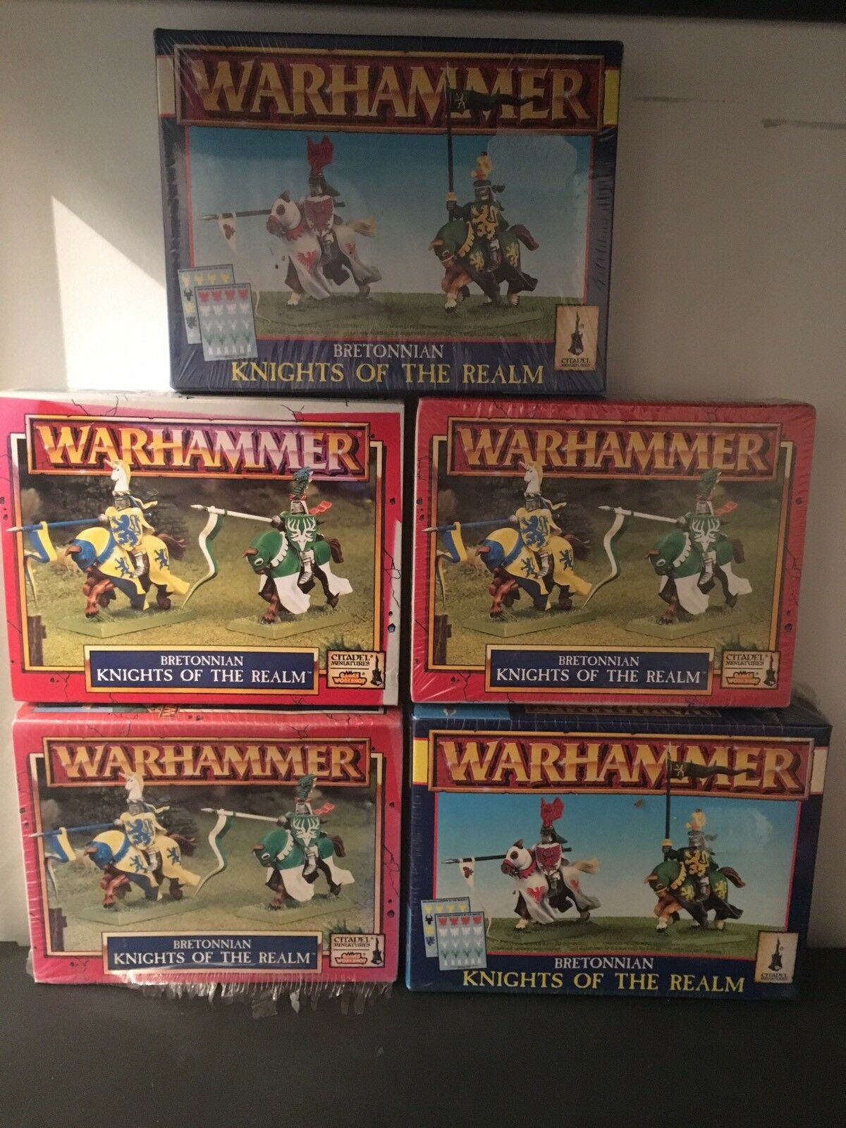 Bretonnia 5 5 5 Boxes Of Knights Of The Realm Fifth Edition OOP 39de8c