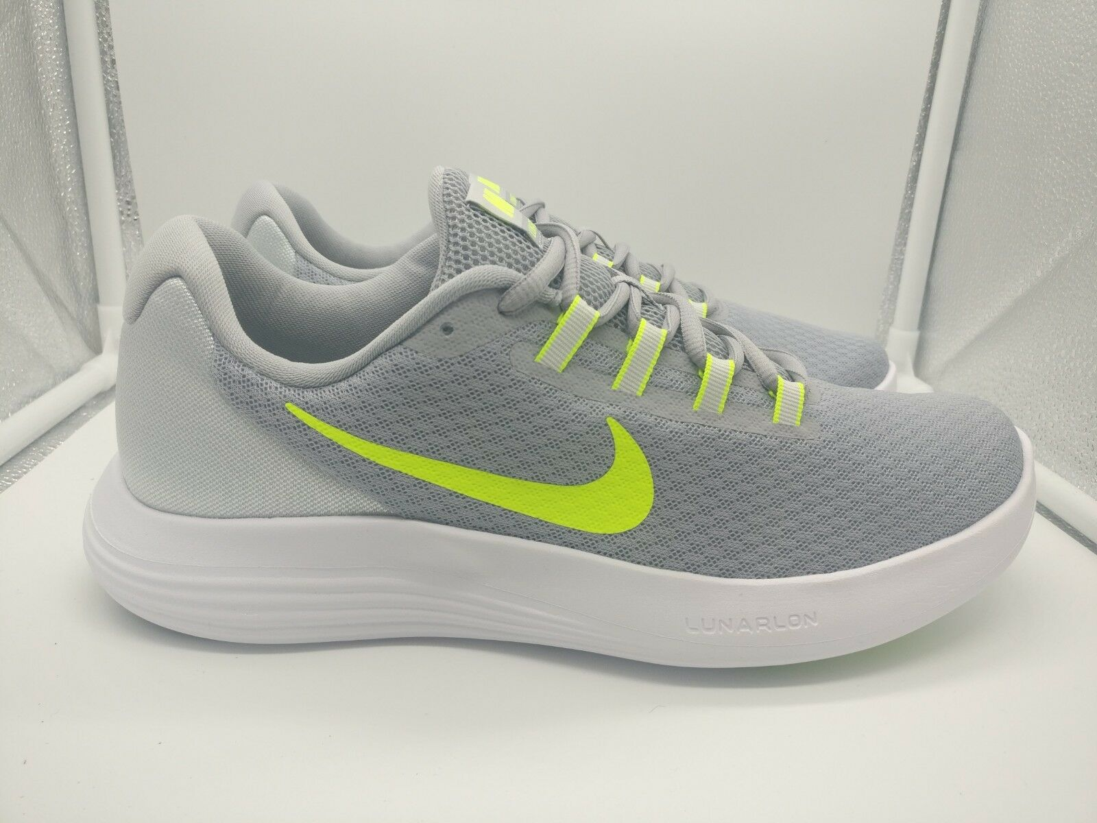 Nike damen Lunarconverge UK 8.5 Wolf grau Volt Pure Platinum Weiß 852469-003