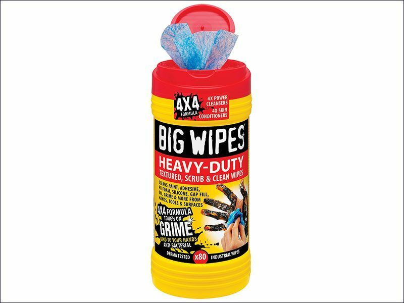 Big Wipes - Red Top 4x4 Heavy-Duty Hand Cleaners Tub of 80 - 2420 0000