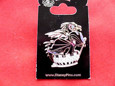 Disney * MALEFICENT &  DRAGON - Castle Turret * New on Card 3D Villain Pin