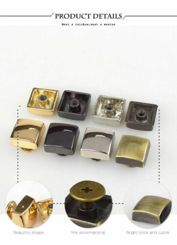 Square Rivet Screw For Bags Hardware Handbag Decorative Studs Button Nail Rivet