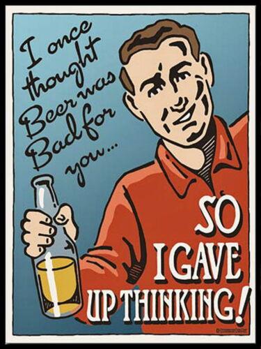 Retro metal Aluminium Signs vintage bar pub man cave beer sign funny humorus