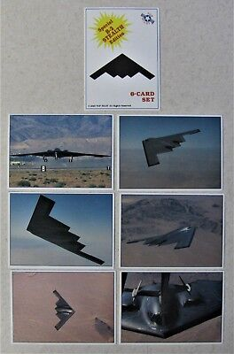 1990 Top Pilot B-2 Stealth Fighter Edition 7 Card Set