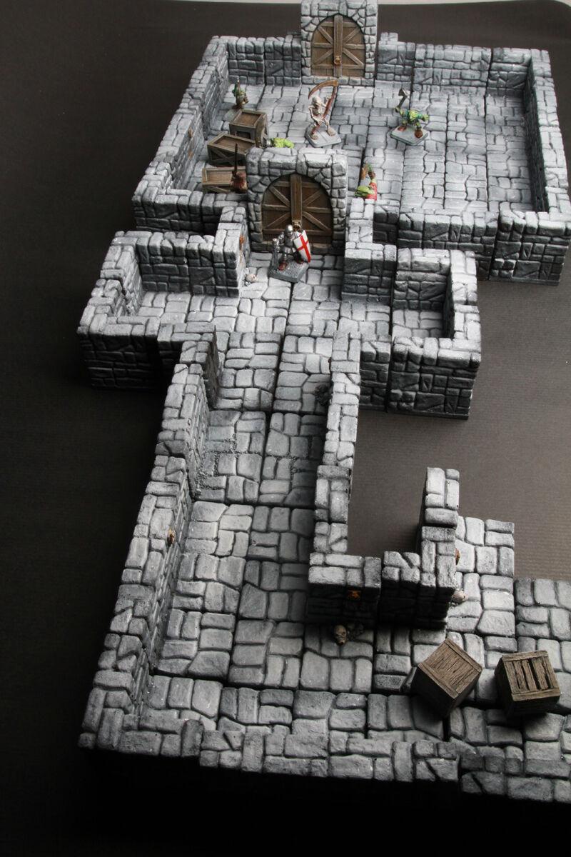 50 Piezas Set terreno mazmorras Modular mazmorras Dragón, D&D, Warhammer, 40k, RPG