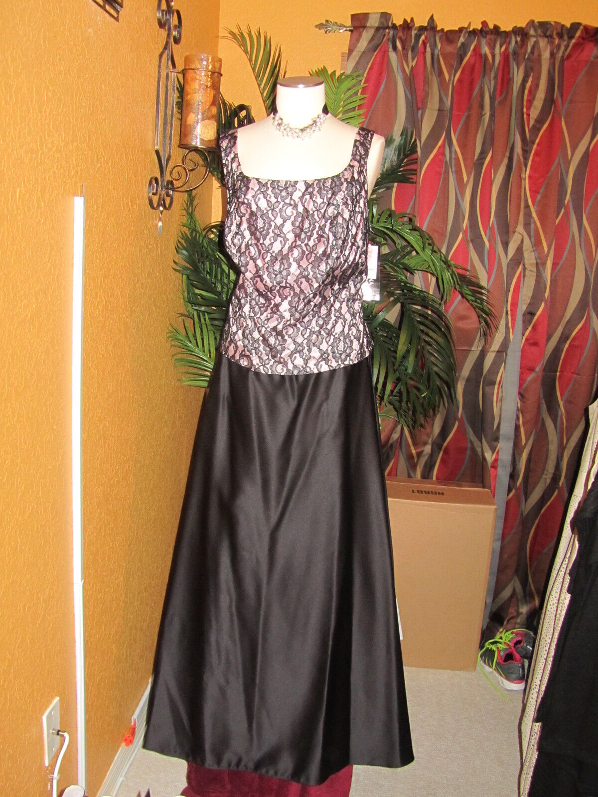 ARIANNA by Rachel Kaye NWT 20W schwarz Rosa lace & satin damen dress long gown
