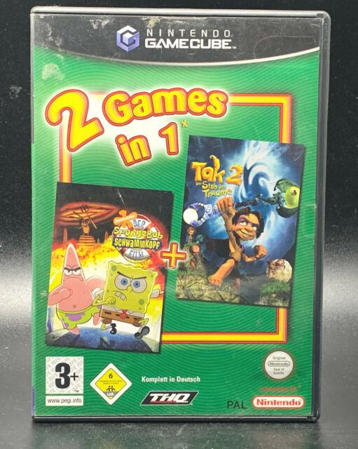 "GAMECUBE SPIEL "" 2 GAMES IN 1 (Spongebob + Tak 2) "" DEUTSCH/OVP"