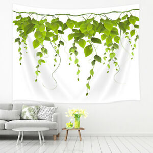 Details about Green Leaves Tapestry Wall Hanging Bedroom Living Room Home  Wall Art Decor
