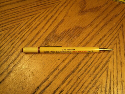 Vintage Quickpoint Mechanical Pencil Advertising The Bison Oil Products Co., Inc