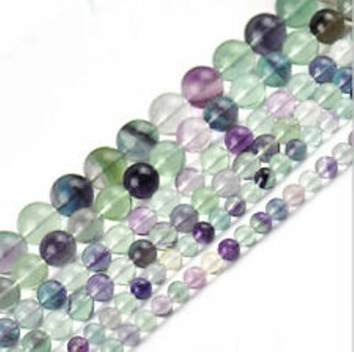 "16/"" Strand 8mm Natural RAINBOW FLUORITE Gemstone Beads"