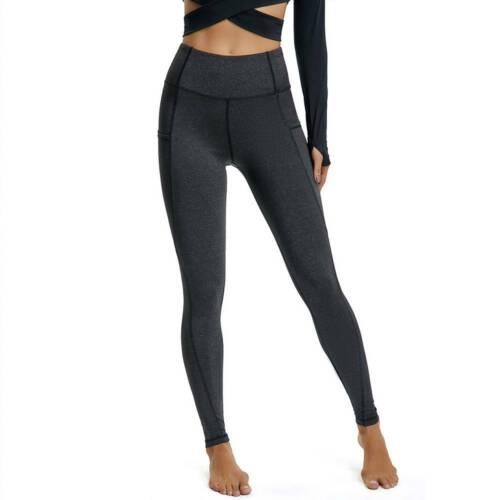 Women 2PCS Yoga Set Long Sleeve Crop Top Gym Leggings Pants Sports Outfit Set UK