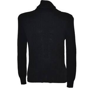 più recente 16ec7 6f737 Dettagli su Maglione uomo nero basic dolcevita a collo alto slim fit moda  zara uomo ad intes