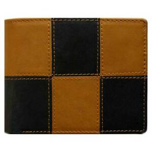 Classic Bi-Fold Black Genuine Leather Wallet ID Credit Card Holder DA VINCI