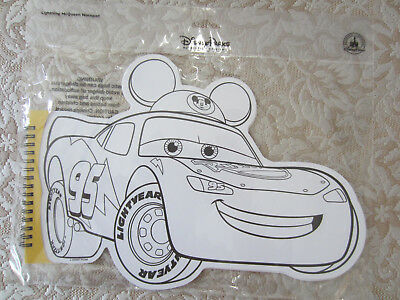 Disney Parks Cars Large Shaped Notepad Coloring Pages New Lightning Mcqueen Ebay