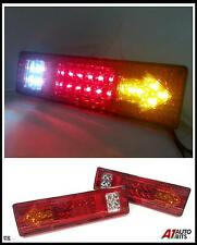 PAIR 12V LED REAR TAIL LIGHTS LAMP 5 FUNCTION TRAILER CARAVAN TRUCK LORRY 19 LED