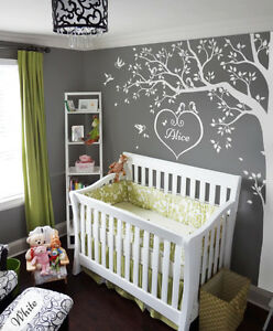 Details About Nursery White Tree Wall Decals Art Corner Decoration Kw006