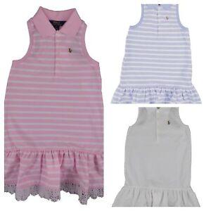 46fbf187b29 Polo Ralph Lauren Girl s Polo Shirt Dress Pony Logo Mesh Cotton ...