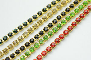SS16-Crystal-Rhinestone-Close-Chain-Trims-11-Color-x-6-Meter