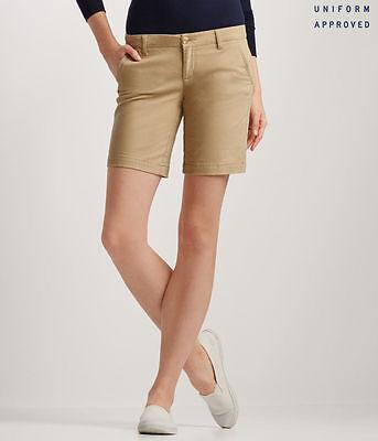 "NEW Aeropostale Light Beige Khaki Bermuda Twill Shorts 9/"" Inseam A1-22"