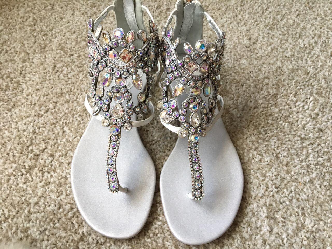Rene caovilla 10mm Swarovski karung sandals
