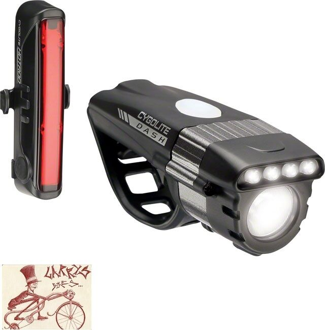 CYGOLITE DASHPRO 600 AND HOTROD 50 BICYCLE HEADLIGHT AND TAILLIGHT SET